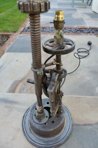 Industrial style metal table lamp/light