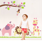 DIY Animals Removable Cute Wall Sticker Decal Kids Baby Nursery Room Decoration