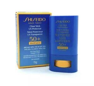 Shiseido Clear Stick Uv Protector 50+ Wetforce SPF 50+ ~ 15g ~ BNIB