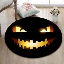 Black Halloween Home Decor Yoga Area Rug Bedroom Carpet Kid Play Round Floor Mat