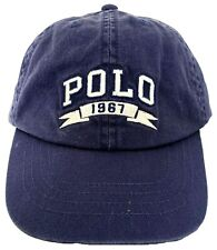Polo Ralph Lauren Baseball Cap Hat One Size 4 - 7 Cotton Navy US Flag
