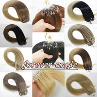 Micro Ring Beads Loop Tip Brazilian Remy Human Hair Extensions 1g/s 7A 50S/100S
