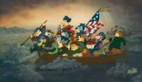 Hanna Barbera-Crossing The Delaware Limited Cel Signed By Hanna and Barbera