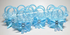 12 pc  BABY SHOWER FAVORS GIFTS PARTY FAVORS BASKETS W/PACIFIERS RECUERDOS blue