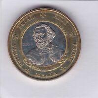 1 EURO Specimen Malta 2003 Jean Parisot de la Valette Probe Trial Essai