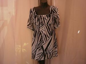 Ladies Black And White Summer Dress