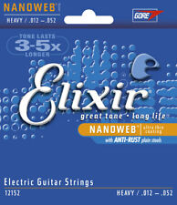 Elixir 12152 Heavy Nanoweb 12-52 Electric Guitar Strings