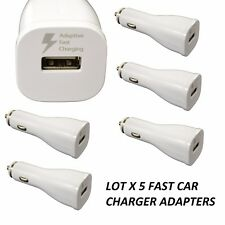 LOT 5 fast rapid Car Charger 2A adaptive POWER Adapter FOR IPHONE 5 6 7 8 PLUS