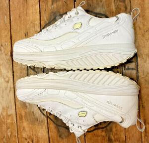 Sketchers Shape Ups Women's Size 11 White Leather Rocker Toning Sneaker SN11800