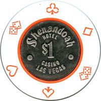 Shenandoah Hotel Casino Wayne Newton $1 Las Vegas, Nevada NV Casino Chip