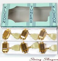 Kluson M33VG Vintage Single Line Tulip tuners/machine heads 3x3 Gold 8.5mm
