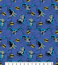 """Fabric Batman DC Comics 100% Cotton 112cm (44"""") wide Blue"""
