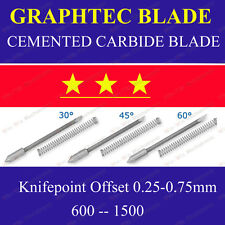 9x HQ 30° Cemented Carbide Blades for Graphtec CB09 Cutting Cutter Vinyl Plotter