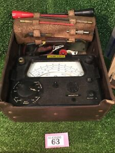 Vintage Rare AVO Meter Model 12 Kit With Accessories, Cables & Leather Case