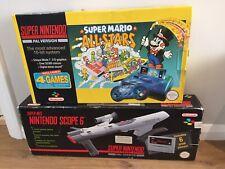 BOXED SUPER NINTENDO SNES MARIO ALL STARS CONSOLE + SUPER SCOPE 6, COMPLETE