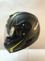 Spada SP16 Motorcycle Helmet motorbike Matt black yellow medium