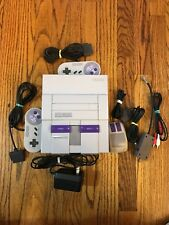 Original SNES Super Nintendo with Controllers And 12 Games TESTED Complete LOT