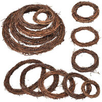 Christmas Natural Dried Rattan Wreath Ring Xmas Garland Home Door Wall DIY Decor