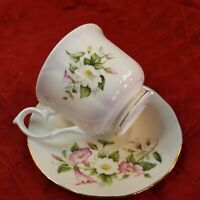 vintageDUCHESS Bone China Tea Cup & Saucer, Made in England, flowers Pattern