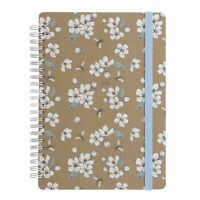 2021 Letts A5 Week To View Diary Kraft Bee Multi Language Wiro Bound Planner 736