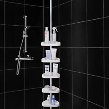 5 Layers Shower Corner Pole Caddy Shelf Holder Bathroom Storage Rack Organizer