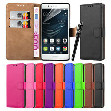 Wallet Flip Book [Stand View] Case Cover For Alcatel & Huawei Mobile Phones