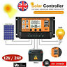 10-100A LCD Solar Panel Battery Regulator Charge Controller Dual USB Tool 12/24V