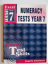 Excel - Numeracy Tests Year 7 Angella Athanasou (Paperback 2003)