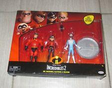 Incredibles 2 - Mr Incredible, Elastigirl, FroZone Disney Pixar 3 Action Figures