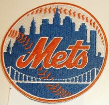 """New York NY Mets Embroidered PATCH~3 1/2"""" Round~Iron Sew On~MLB~Ships FREE in US"""