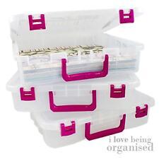 Creative Options scatola di immagazzinaggio contenitore impilabile in plastica piccolo vassoio chiaro