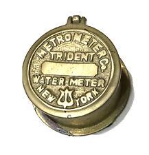 Vintage Antique Metrometer Water Meter NY Inkwell Desk Trinket Box Decor Old