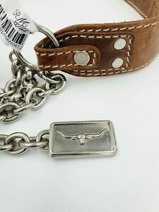 RM Williams Brown Leather Belt 12-14 New With Tags