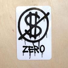 Zero skateboards vinyl sticker no money cash dollar btc crypto Jamie Thomas
