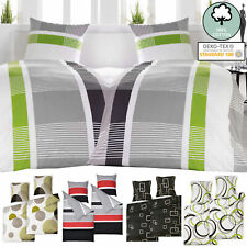 4 tlg Set Bettwäsche 135x200 155x220 cm Baumwolle Bettbezug Renforce Bettwaren