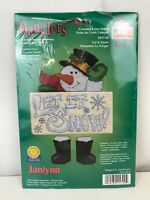 Janlynn Christmas Snowman Danglers Counted Cross Stitch Kit Let it snow #157-90