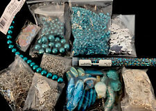 Lot Of Mixed Beads Acrylic, Glass, Metal, Clay, Pearls And Findings B12