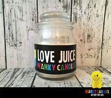 WANKY CANDLES Novelty gift Dad Brother Mum Sister Auntie   -  Love Juice