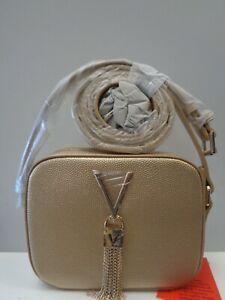 "VALENTINO BAGS Divina Gold Pebbled Camera Bag Ref BAG354"""