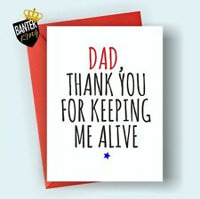 F5 DAD FATHERS DAY HAPPY BIRTHDAY GREETINGS CARD RUDE FUNNY ADULT JOKE CHEEKY