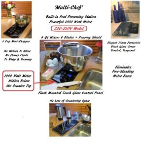 220V BUILT-IN Mixer & Chopper (1000W Motor hidden below countertop): re: NuTone