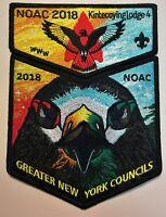 KINTECOYING OA LODGE 4 BSA GREATER NEW YORK 2018 NOAC COLOR PRISM FALCON 2-PATCH