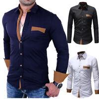 Luxury Men's Stylish Slim Fit Shirt Long Sleeve Dress Shirts Casual Shirt Tops