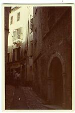 PHOTO ST Paul de Vence snapshot 1957 une ruelle scène de genre