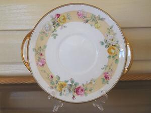 "Royal Doulton ""Rosamund"" Cake Plate H4494 England 1950s"
