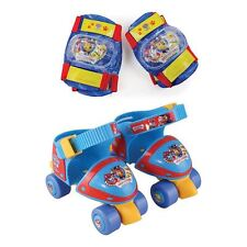 PAW PATROL Size 7-11 Skates with Knee Pads and Elbow Pads Protection PacK