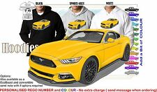 2016 MUSTANG COUPE HOODIE ILLUSTRATED CLASSIC RETRO MUSCLE SPORTS CAR
