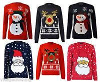 Kids Girls Boy Christmas Knitted Jumpers Children Reindeer Rudolph Knitwear Top