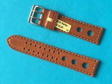 Vegi Ralley Uhrband braun 22 mm pflanzlich gegerbt Lederband Ersatzband