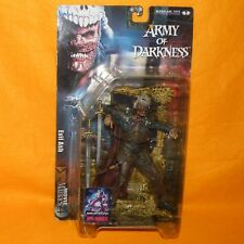 2001 McFARLANE TOYS MOVIE MANIACS 4 ARMY OF DARKNESS EVIL ASH FIGURE MOC CARDED